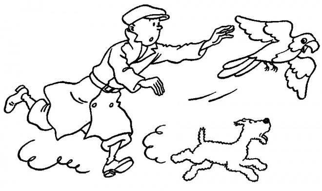 Coloriage et dessins gratuits Tintin à télécharger à imprimer