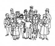 Coloriage Tintin Bande dessinée française