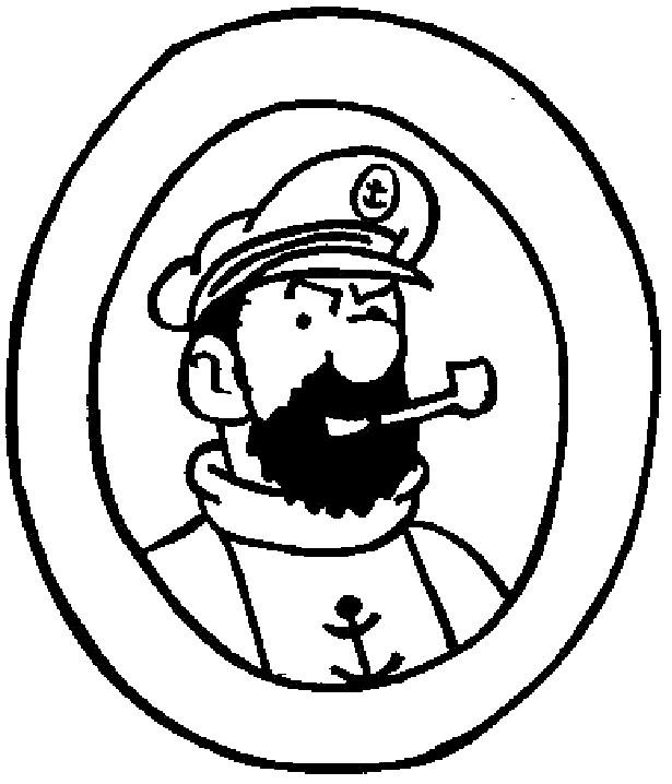 Coloriage et dessins gratuits Tintin Capitaine Haddock à imprimer