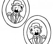 Coloriage et dessins gratuit Tintin Dupond et Dupont à imprimer