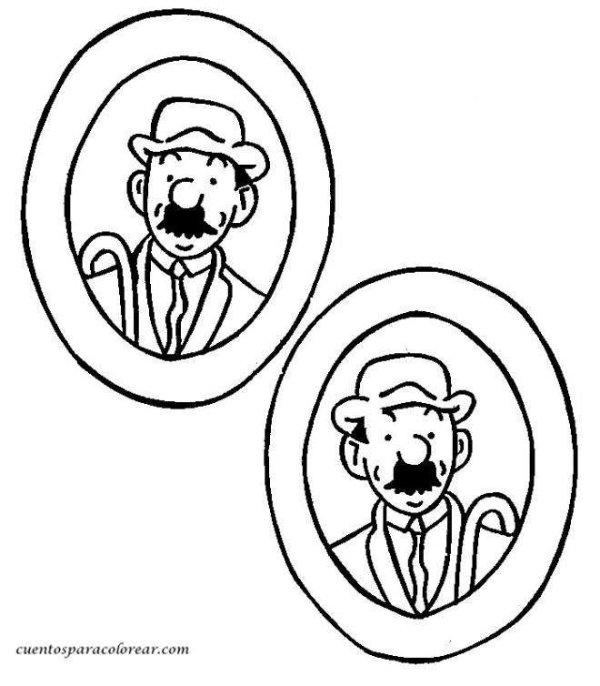 Coloriage tintin dupond et dupont dessin gratuit imprimer - Tintin gratuit ...