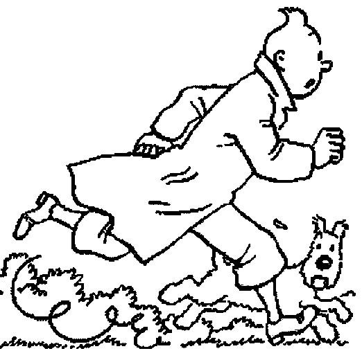 Coloriage tintin en couleur dessin gratuit imprimer - Tintin gratuit ...