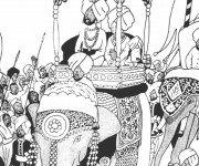 Coloriage Tintin en Inde