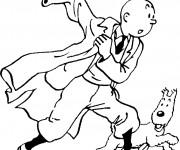 Coloriage et dessins gratuit Tintin et Milou à imprimer