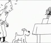 Coloriage Tintin et Milou et La Surprise