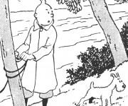 Coloriage Tintin Le Petit découvreur