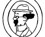 Coloriage et dessins gratuit Tintin Le Professeur Tournesol à imprimer