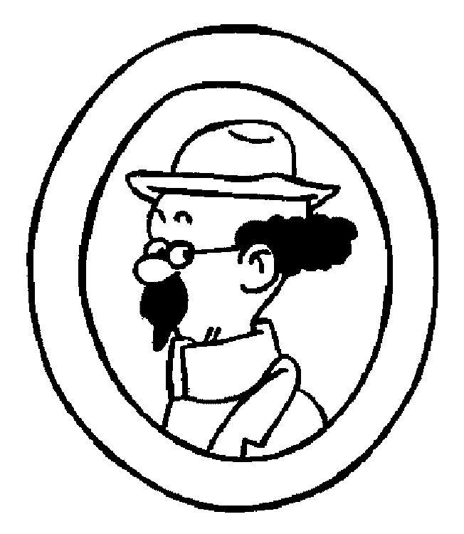Coloriage et dessins gratuits Tintin Le Professeur Tournesol à imprimer