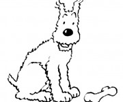 Coloriage et dessins gratuit Tintin Milou à imprimer