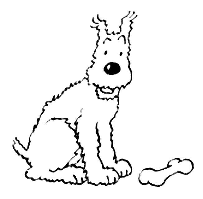 Coloriage Tintin Milou dessin gratuit à imprimer