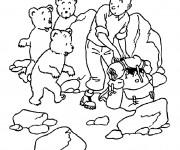 Coloriage et dessins gratuit Tintin sur La Montagne à imprimer