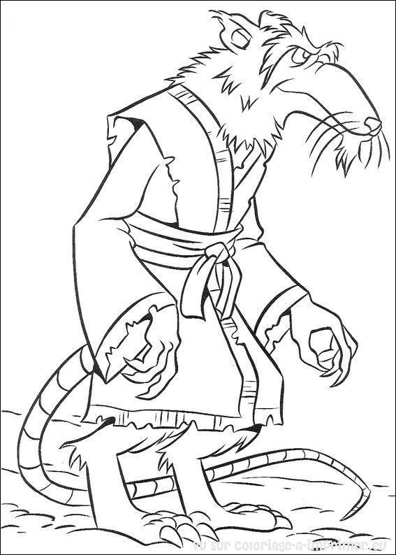 Coloriage et dessins gratuits Le Rat Maître Splinter à imprimer