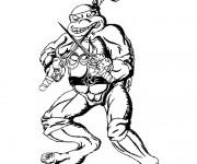 Coloriage dessin  Tortue Ninja 3