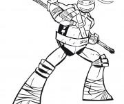 Coloriage dessin  Tortue Ninja 4