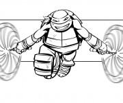 Coloriage dessin  Tortue Ninja 9