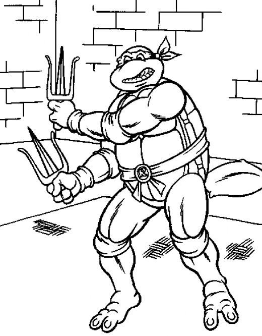 Coloriage et dessins gratuits Tortue Ninja à décorer à imprimer