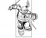 Coloriage Tortue Ninja à découper