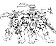 Coloriage Tortue Ninja bande dessiné