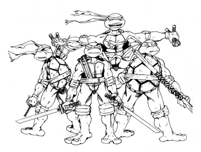 Coloriage tortue ninja bande dessin dessin gratuit imprimer - Dessiner un ninja ...