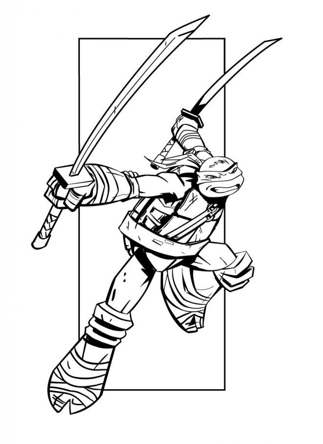 Coloriage et dessins gratuits Tortue Ninja couleur à imprimer