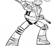 Coloriage Tortue Ninja Donatello