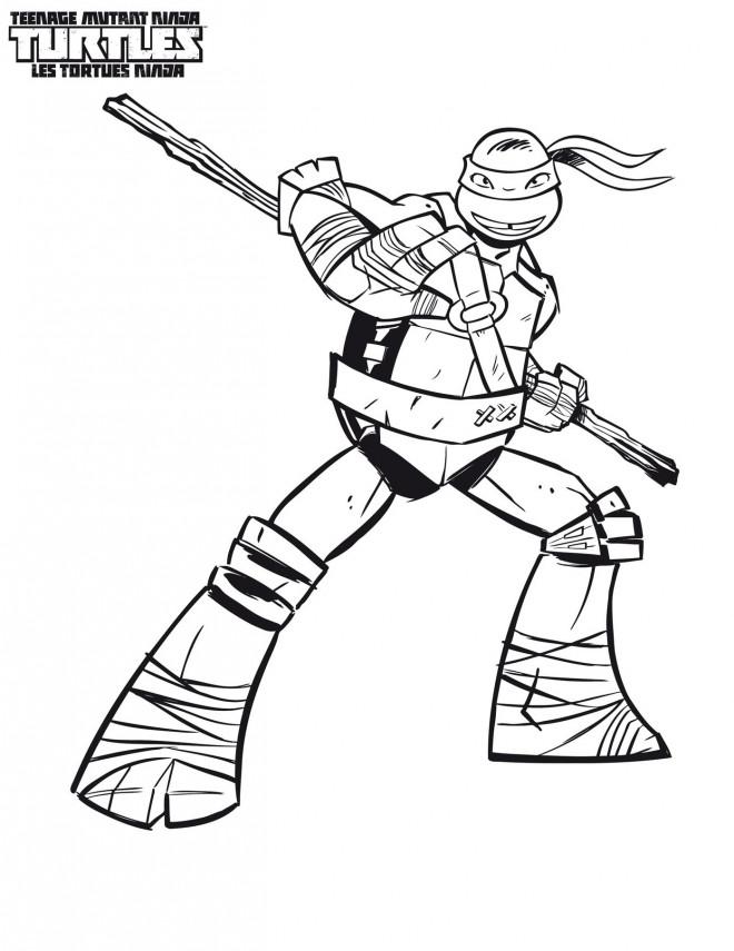 Coloriage Tortue Ninja Donatello Dessin Gratuit à Imprimer