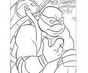 Coloriage Tortue Ninja Donatello à colorier