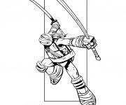 Coloriage et dessins gratuit Tortue Ninja facile à imprimer