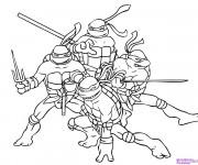 Coloriage Tortue Ninja Héros