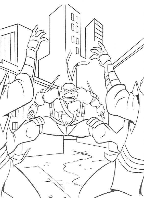 Coloriage et dessins gratuits Tortue Ninja imbattable à imprimer