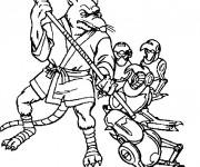 Coloriage tortue ninja le rat splinter dessin gratuit - Le rat des tortue ninja ...