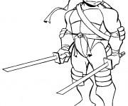 Coloriage Tortue Ninja Leonardo