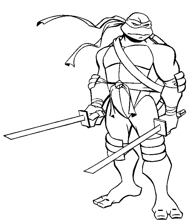 Coloriage Tortue Ninja Gratuit A Imprimer