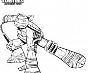 Coloriage Tortue Ninja Leonardo souriant