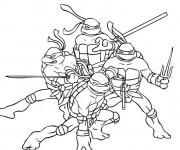 Coloriage Tortue Ninja magique