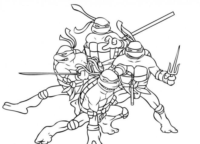 Coloriage Tortue Ninja Magique Dessin Gratuit A Imprimer