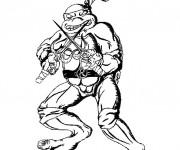 Coloriage Tortue Ninja Raphael