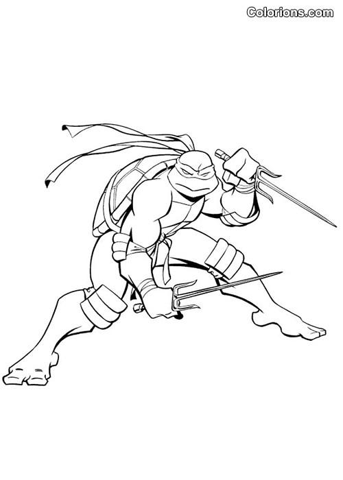 Coloriage Tortue Ninja gratuit à imprimer liste 20 à 40
