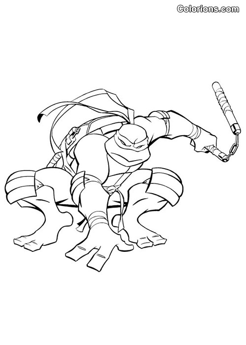 Coloriage tortue ninja raphael s rieux dessin gratuit - Tortues ninja michelangelo ...