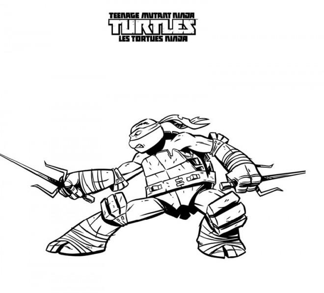 Coloriage tortue ninja tout puissant dessin gratuit imprimer - Dessin anime des tortues ninja ...