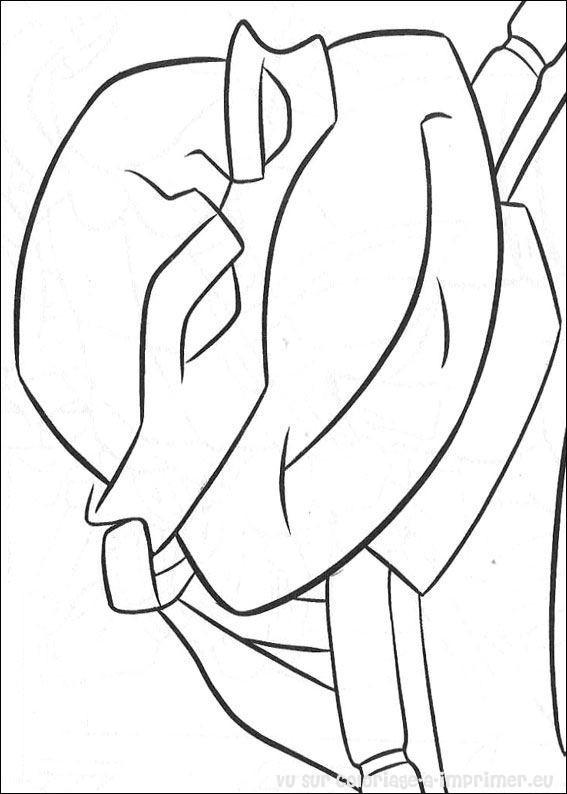Coloriage et dessins gratuits Visage de Raphael Tortue Ninja à imprimer