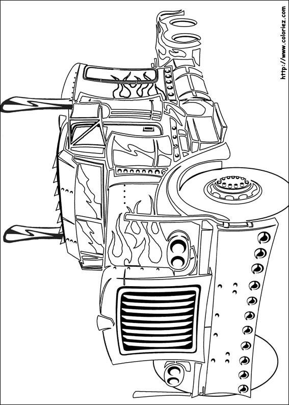 Coloriage et dessins gratuits Camion Transformers à imprimer