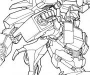 Coloriage La Bataille des Transformers
