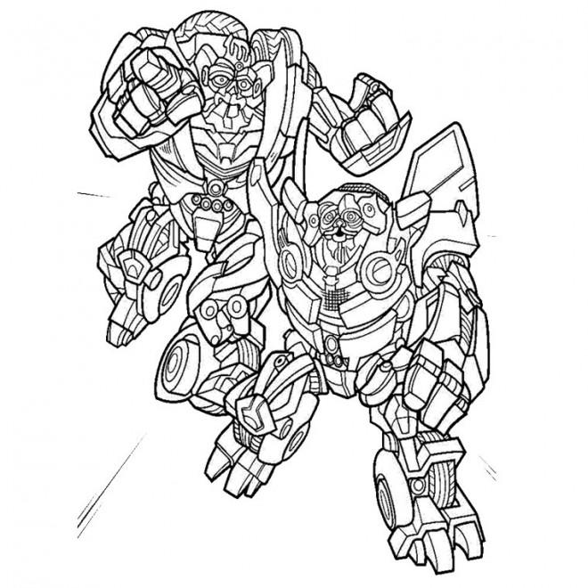 Coloriage et dessins gratuits Le Film Transformers Robots à imprimer