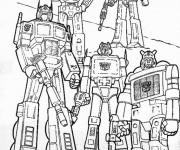 Coloriage Les Personnages Transformers Bande dessinée