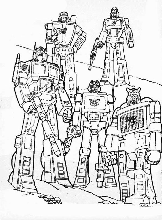 Coloriage les personnages transformers bande dessin e - Dessin de transformers ...