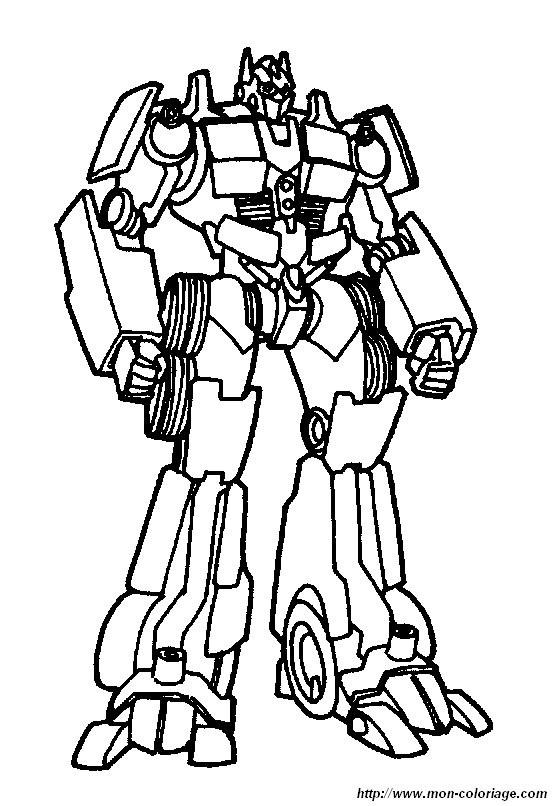 Coloriage et dessins gratuits Portrait d'un Transformers à imprimer