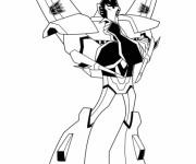 Coloriage Portrait Transformers en Ligne