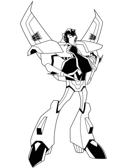 Coloriage et dessins gratuits Portrait Transformers en Ligne à imprimer