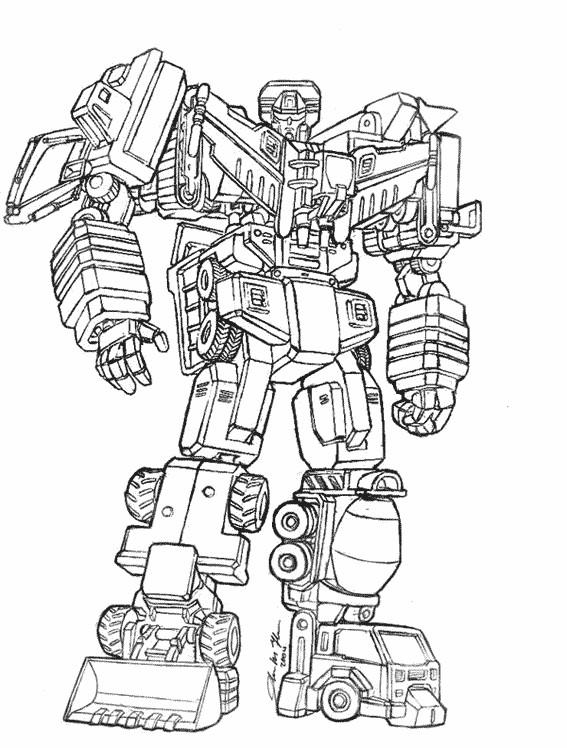 Coloriage Facile Transformers.Coloriage Robot Transformers En Couleur Dessin Gratuit A Imprimer